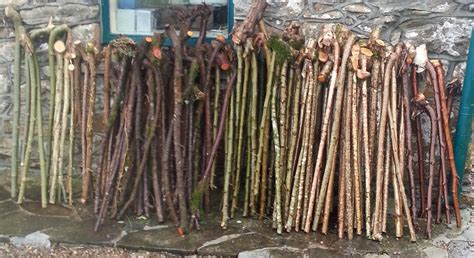 Handmade Walking Sticks For Sale - pictures of our stickmaking operation derryhick sticks