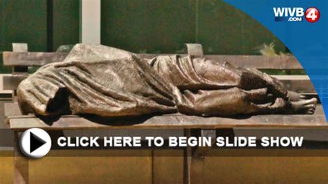 homeless jesus on park bench homeless jesus gets a new home in buffalo wivb com