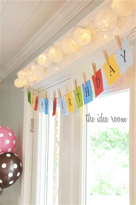 happy birthday room design simple happy birthday sign you can easily make at home