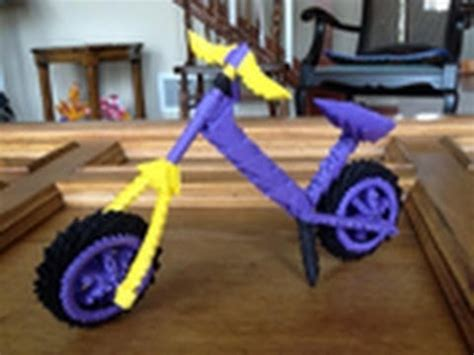 How To Make An Origami Bike - show you how to make a 3d children bike