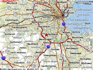 Map Of Boston Suburbs by Map Boston Area
