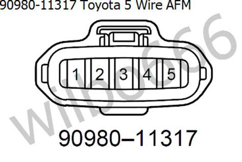 toyota mass air flow sensor wiring diagram efcaviation