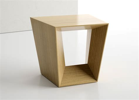 Wooden Side Table Modern Angular Wood Side Table Ambience Dor 233