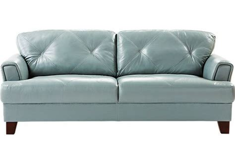 cindy crawford leather sofa shop for a cindy crawford home eden place seafoam leather