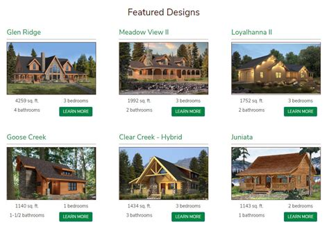 new home design center announcing launch of new log home design center website