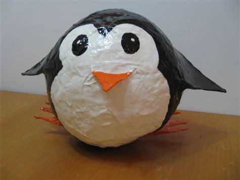 How To Make A Paper Mache Penguin - 2012 penguin 3 paper mache piggy bank paper mache farm