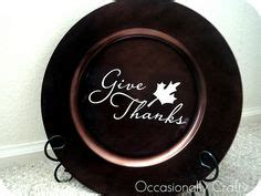 8 x 8 charger plate thank you card template vinyl crafts for autumn thanksgiving on vinyls