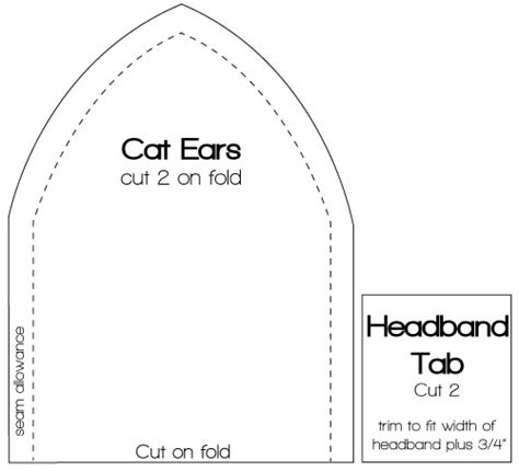 cat ear template cat ear template cats and dogs cat