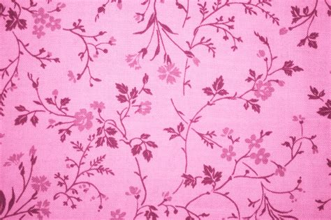 pink floral print fabric texture picture free photograph