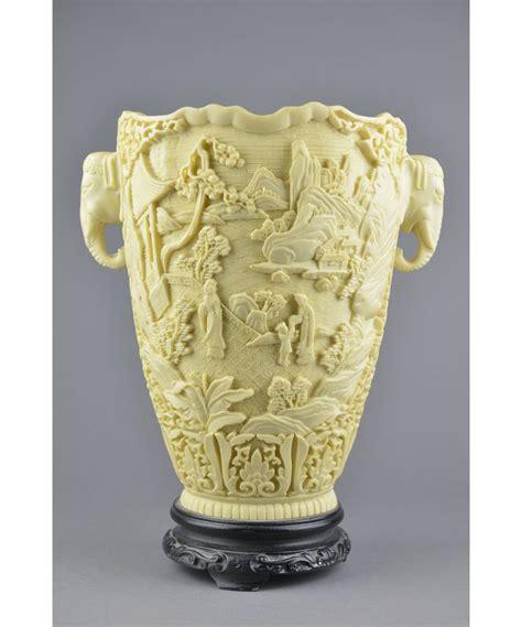 Woran Erkenne Ich Elfenbein by Lacquer Carved Vase With Elephant Handles