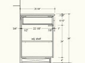 proper depth for frameless cabinets