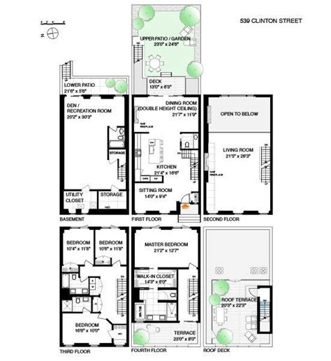 brooklyn brownstone floor plans 283 best images about town homes on pinterest 2nd floor