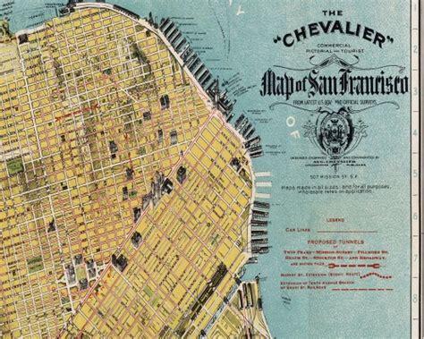 san francisco map vintage easy to make vintage map pillows
