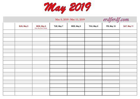 printable  calendar  week calendar template printable