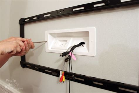 wall mounted tv with wires tutorial