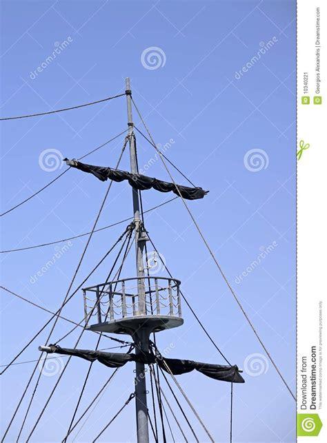 mast stock image image  pirates sailboat rope