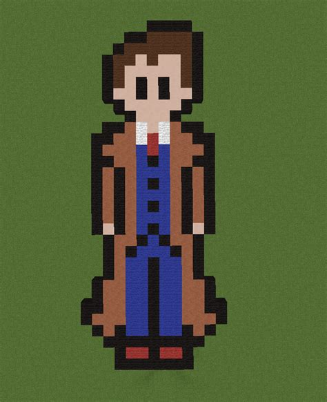 10th doctor pixel art minecraft 10th doctor pixel art by thelastdogminer on deviantart