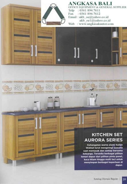 Lemari Partisi Olympic jual furniture kitchenset lemari piring rak piring lemari