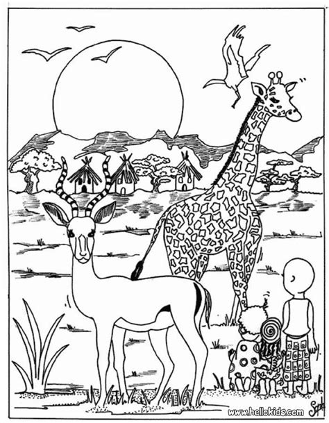 africa coloring pages az coloring pages