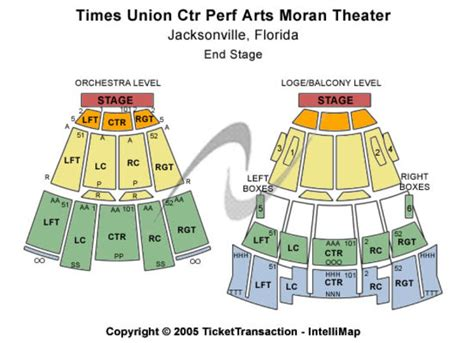 times union center seating jacksonville times union ctr perf arts theater tickets in