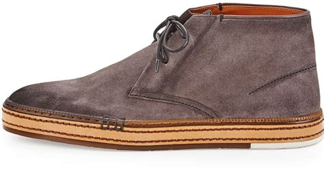 Wedges Shoes Cortina 1 berluti cortina suede ankle boot in gray for lyst