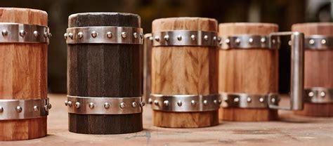Cool Mugs wooden beer mugs by green shield workshop