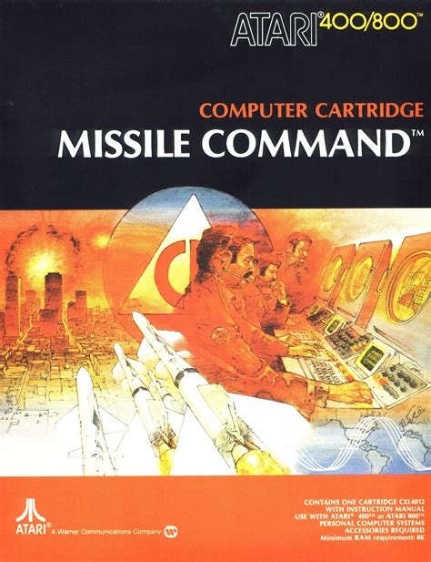 missile command the atari 2600 journal books xe game