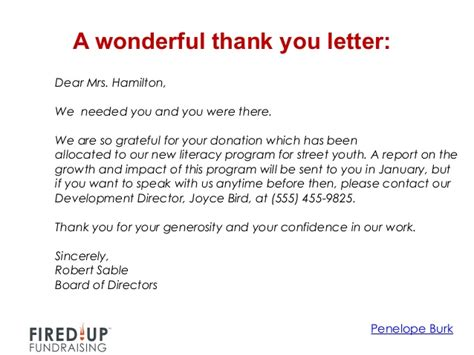 Thank You Letter For Donation Of Time How To Write A Killer Thank You Letter