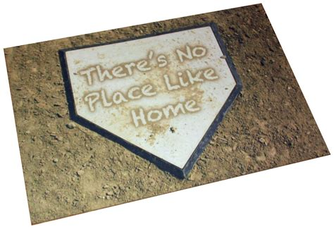 Theres No Place Like 127001 Door Mat For It Geeks by There S No Place Like Home Baseball Door Mat Doormat