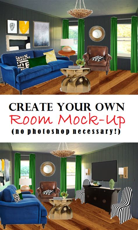 make your own room how to create a room mock up no photoshop necessary