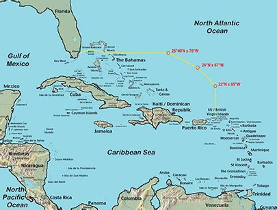 map of the islands and florida florida to the caribbean blue water sailing