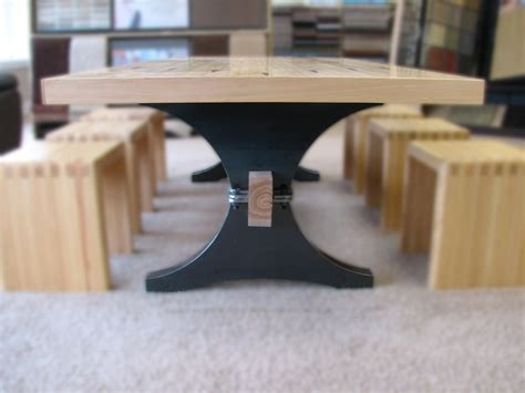 Maple Bowling Alley Arch Trestle Table Bowling Alley Table