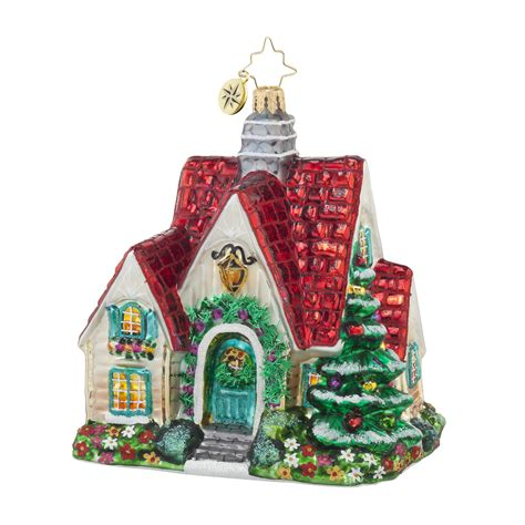 radko 1017865 perfect cottage red roof house ornament