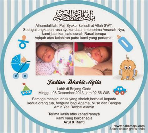 desain kartu ucapan kelahiran bayi desain kartu ucapan aqiqah akekah akikah kartu aqiqah