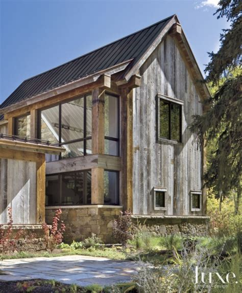 mountain home exteriors rustic exterior of modern mountain home luxe exteriors