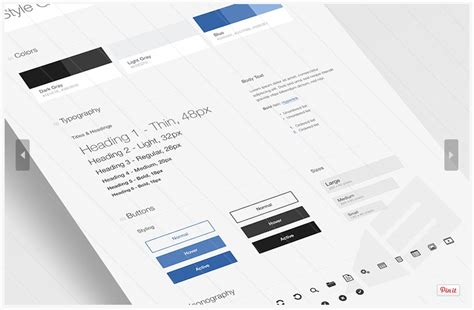 free style guide template ui style guide free psd template