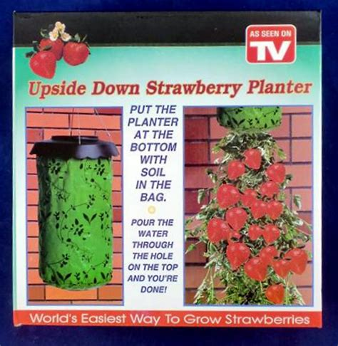 upside down hanging strawberry planter full kit ebay