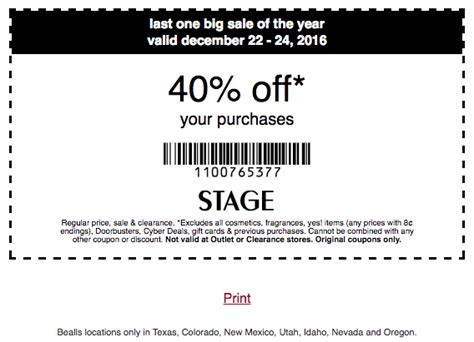Amazon Home Decor stage stores coupon 40 off your purchase 12 22 12 24