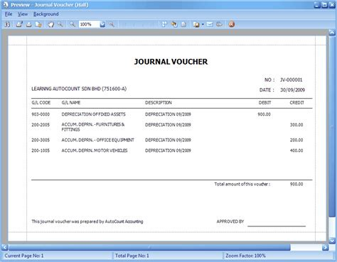 template of journal voucher journal entry