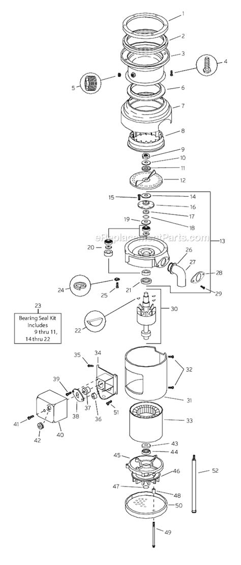 insinkerator parts diagram insinkerator ss100 parts list and diagram