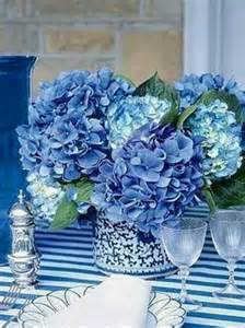 centerpieces with hydrangeas hydrangea centerpiece beautiful blues