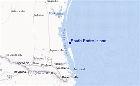 texas map south padre island south padre island pr 233 visions de surf et surf report texas usa