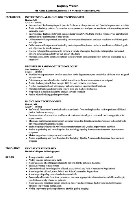 Technologist Resume by Sle Resume For Radiologic Technologist Sanitizeuv