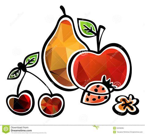 frutta clipart frutta stilizzata illustrazione di stock illustrazione di
