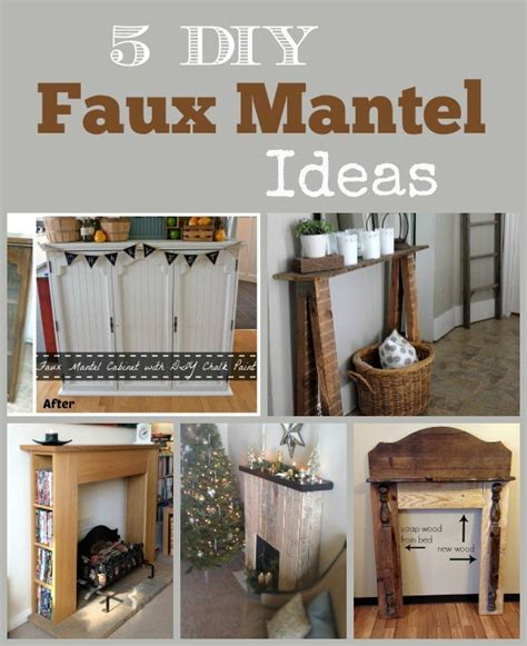 diy faux fireplace ideas 5 diy faux mantel ideas stow tellu