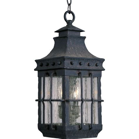 Outdoor Lighting Lantern Style Maxim Lighting Nantucket 3 Light Country Forge Outdoor Hanging Lantern 30088cdcf The Home Depot