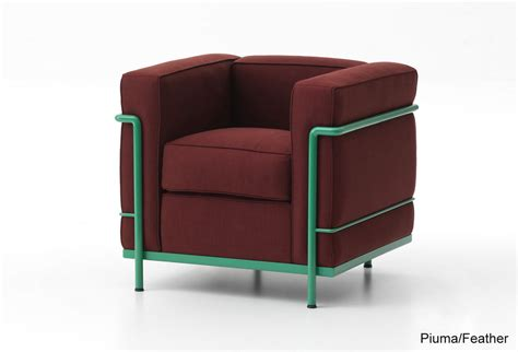 fauteuil lc2 lc2 armchair lacquered frame cassina