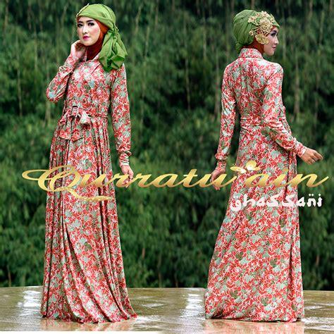 Maxi Best Flower Baju Muslim Wanita Busana Muslimah Gamis Busu dress muslim beli dress muslim zalora indonesia
