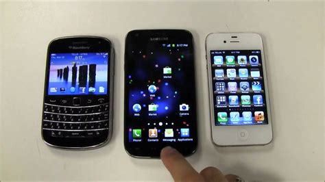 android vs iphone review blackberry vs iphone vs android vs review