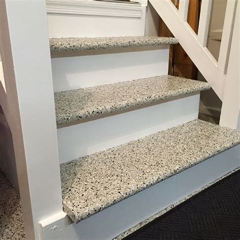Epoxy on stairs? Why yes, we do love that!   Epoxy and
